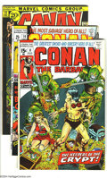 "Bronze Age (1970-1979):Miscellaneous, Conan the Barbarian Group (Marvel, 1971-72) Condition: FN. Thisgroup includes #8, 10, and 12-14. Issue #8 has the famous ""h...(Total: 5 Comic Books Item)"