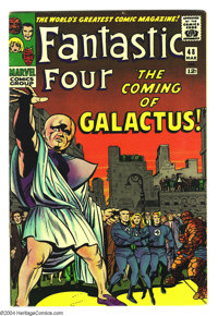 Fantastic Four #48 (Marvel, 1966) Condition: FN. The first appearance of the Silver Surfer and Galactus. Jack Kirby art...