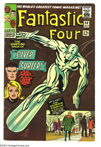 Fantastic Four #50 (Marvel, 1966) Condition: FN-. Jack Kirby art. First appearance of Wyatt Wingfoot. Overstreet 2003 FN...