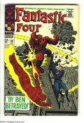 Silver Age (1956-1969):Superhero, Fantastic Four #69 (Marvel, 1967) Condition: VF/NM. Jack Kirby art. The Thing vs. Mr. Fantastic and the Human Torch. Overstr...
