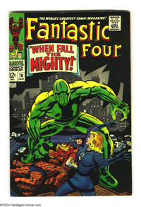 """Fantastic Four #70 (Marvel, 1968) Condition: VF/NM. """"When Fall the Mighty!"""" Overstreet 2003 VF/NM 9.0 value =..."""