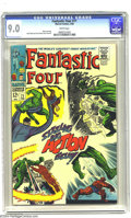 Silver Age (1956-1969):Superhero, Fantastic Four #71 (Marvel, 1968) CGC VF/NM 9.0 White pages. Jack Kirby art. Overstreet 2003 VF/NM 9.0 value = $49; NM 9.4 v...