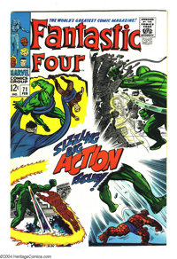 Fantastic Four #71 (Marvel, 1968) Condition: NM-. The FF team supreme of Stan Lee, Jack Kirby, and Joe Sinnott, at their...