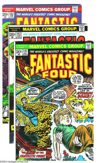 Fantastic Four Group (Marvel, 1971-74) Condition: VF+. This group includes #141-154 and Annual 9, highlighted by the wed...