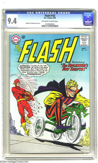 The Flash #152 (DC, 1965) CGC NM 9.4 Off-white to white pages. Carmine Infantino and Murphy Anderson art. To date, only...