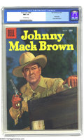 Silver Age (1956-1969):Western, Four Color #685 Johhny Mack Brown (Dell, 1956) CGC NM 9.4 Off-white pages. Photo cover. Overstreet 2003 NM 9.4 value = $85....