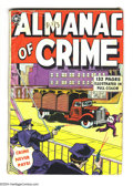 """Golden Age (1938-1955):Crime, Fox Giants Almanac of Crime (Fox Features Syndicate, 1949)Condition: GD-. Blue Beetle appearance. 2.25"""" x 2.5"""" piecemissin..."""