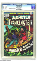 Bronze Age (1970-1979):Horror, Frankenstein #5 (Marvel, 1973) CGC VF+ 8.5 Off-white to whitepages. Mike Ploog cover. Story art by Ploog and John Verpoorte...