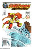 Modern Age (1980-Present):Superhero, Fury of Firestorm #61 Superman Logo Test Cover Variant (DC, 1987)Condition: NM-. This a copy of an issue with a variant Sup...