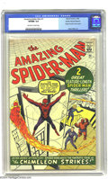 Silver Age (1956-1969):Superhero, Golden Records Reprints nn Amazing Spider-Man #1 (Golden Records, 1966) CGC VF/NM 9.0 Off-white to white pages. Not includin...