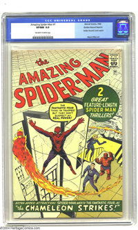 Golden Records Reprints nn Amazing Spider-Man #1 (Golden Records, 1966) CGC VF/NM 9.0 Off-white to white pages. Not incl...