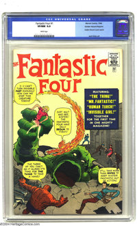 Golden Records Reprints nn Fantastic Four #1 (Golden Records, 1966) CGC VF/NM 9.0 White pages. Jack Kirby art. Not inclu...