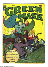 Green Mask V2#1 (Fox Features Syndicate, 1945) Condition: FN. Overstreet 2003 FN 6.0 value = $75
