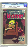Bronze Age (1970-1979):Horror, House of Mystery #201 (DC, 1972) CGC NM 9.4 Off-white to whitepages. Michael Kaluta cover. Interior art by Sergio Aragonés,...