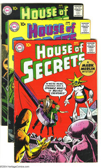 House of Secrets Group (DC, 1960s) Condition: Average VG+. This group includes # 32-33 and 35-38. Overstreet 2003 value...