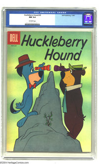 Huckleberry Hound #9 (Dell, 1961) CGC NM 9.4 Off-white pages. Overstreet 2003 NM 9.4 value = $80