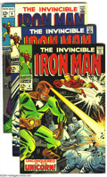 Silver Age (1956-1969):Superhero, Iron Man Group (Marvel, 1968-69) Condition: FN+. This group includes # 4, 8-10, and 15. George Tuska art. Overstreet 2003 FN... (Total: 5 Comic Books Item)
