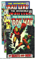 Bronze Age (1970-1979):Superhero, Iron Man Group (Marvel, 1969-72) Condition: Average VG+. This group includes #16, 19, 21-30, 32, 33, 35, 41, and 50.George T... (Total: 17 Comic Books Item)