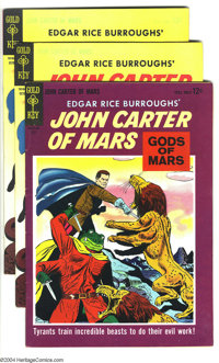 John Carter of Mars Group (Gold Key, 1964) Condition: Average VF+. This group includes one copy of #2 and two copies of...