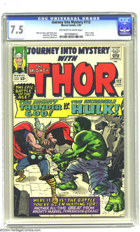 Journey into Mystery #112 (Marvel, 1965) CGC VF- 7.5 Off-white to white pages. Jack Kirby art. Origin of Loki. Overstree...