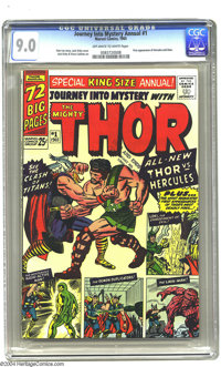 Journey into Mystery Annual 1 (Marvel, 1965) CGC VF/NM 9.0 Off-white to white pages. Overstreet 2003 VF/NM 9.0 value = $...