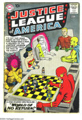 Silver Age (1956-1969):Superhero, Justice League of America #1 (DC, 1960) Condition: GD+. Overstreet 2003 GD 2.0 value = $286. From the White Rose Collectio...