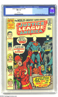 Justice League of America #89 (DC, 1971) CGC NM+ 9.6 White pages. Highest grade yet assigned by CGC for this issue. Neal...