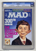 Magazines:Mad, Mad #300 Hussein Asylum edition Gaines File Copy (EC, 1991) CGC NM9.4 White pages. Special edition only distributed to the ...