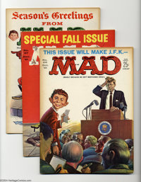Mad Issues #66-70 Group (EC, 1961-62) Condition; Average FN. Issue #68 features a Christmas cover by Don Martin. Overstr...