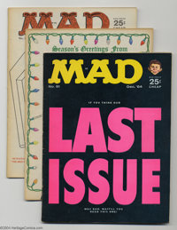Mad #91-100 Group (EC, 1964-66) Condition: Average FN. Ten issues in this lot include #91-100. King Kong cover on #94; M...