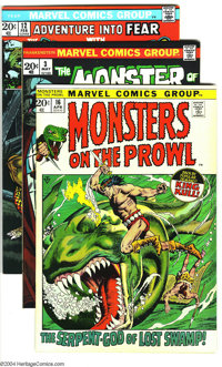 Marvel Bronze Age Group (Marvel, 1973-74) Condition: VF+. This group includes Monsters on the Prowl #15, Monster of Fr...