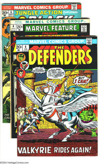 Marvel Bronze Age Group (Marvel, 1973-74) Condition: VF. This group includes Defenders #4, Marvel Feature #4 starrin...