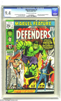 Bronze Age (1970-1979):Superhero, Marvel Feature #1 (Marvel, 1971) CGC NM 9.4 Off-white to white pages. Origin and first appearance of the Defenders. Neal Ada...