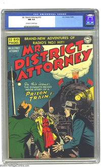 Mr. District Attorney #15 (DC, 1950) CGC NM 9.4 Off-white to white pages. This is one of the more obscure DC titles of t...