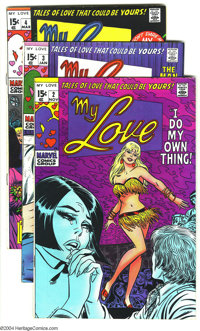 My Love (2nd series) #2-6 Group (Marvel, 1969-70). Gene Colan, John Buscema, and John Romita Sr. art. Previous owner's n...