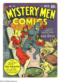 Golden Age (1938-1955):Superhero, Mystery Men Comics #27 (Fox, 1941) Condition: GD/VG. World War II Hitler, bondage cover. George Tuska art. Overstreet 2003 G...