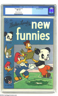 Golden Age (1938-1955):Funny Animal, New Funnies #110 (Dell, 1946) CGC NM 9.4 Cream to off-white pages.Highest grade yet assigned by CGC for this issue. Overstr...