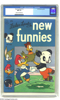 New Funnies #110 (Dell, 1946) CGC NM 9.4 Cream to off-white pages. Highest grade yet assigned by CGC for this issue. Ove...