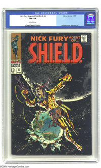 Nick Fury, Agent of SHIELD #6 (Marvel, 1968) CGC NM 9.4 Off-white pages. Jim Steranko cover. Overstreet 2003 NM 9.4 valu...