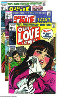 Silver Age (1956-1969):Romance, Our Love Story Group (Marvel, 1969-70). This group includes #1-4and 6. Most have John Romita Sr. covers. Overstreet 2003 va...(Total: 5 Comic Books Item)