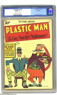 Plastic Man #2 Rockford pedigree (Quality, 1944). CGC FN/VF 7.0 Cream to off-white pages. Jack Cole cover and art. Overs...