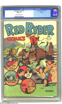 Red Ryder Comics #15 Rockford pedigree (Dell, 1943) CGC NM- 9.2 Cream to off-white pages. Dan Dunn, Myra North, and King...