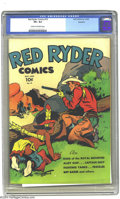 Golden Age (1938-1955):Western, Red Ryder Comics #19 Rockford pedigree (Dell, 1944) CGC VF+ 8.5 Cream to off-white pages. This pretty book from the Rockford...