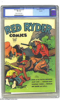 Red Ryder Comics #19 Rockford pedigree (Dell, 1944) CGC VF+ 8.5 Cream to off-white pages. This pretty book from the Rock...