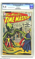 Silver Age (1956-1969):Adventure, Rip Hunter Time Master #3 (DC, 1961) CGC NM 9.4 Off-white pages. Ross Andru and Mike Esposito art. Ties with one other as hi...