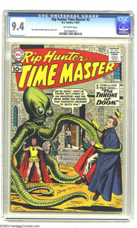 Rip Hunter Time Master #3 (DC, 1961) CGC NM 9.4 Off-white pages. Ross Andru and Mike Esposito art. Ties with one other a...