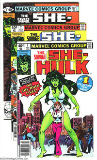 The Savage She-Hulk Group (Marvel, 1980-82) Condition: Average VF. This group includes 6 copies of #1, 3 copies of #2, 2...