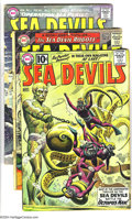 Silver Age (1956-1969):Superhero, Sea Devils Group (DC, 1961-65) Condition: Average GD. Group includes #1, 19, and 22. Overstreet 2003 value for group = $62.... (Total: 3 Comic Books Item)
