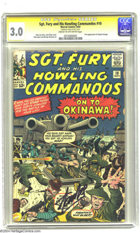 Sgt. Fury and His Howling Commandos #10 (Marvel, 1964) CGC 3.0 Cream to off-white pages. Signature Series. Jack Kirby co...