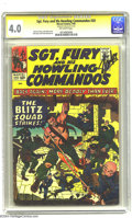 Silver Age (1956-1969):War, Sgt. Fury and His Howling Commandos #20 (Marvel, 1965) CGC VG 4.0 Off-white pages. Signature Series. Jack Kirby cover. CGC n...